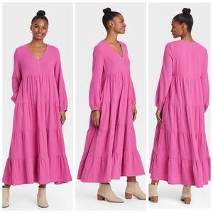 Universal Thread Pink Balloon Long-Sleeve…
